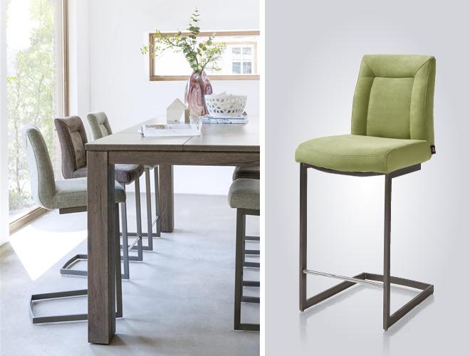 Maak van je keuken een woonkeuken met de meubels van Henders & Hazel. Bartafel en barstoelen #bartafel #keuken #woonkeuken #barstoel #hendershazel