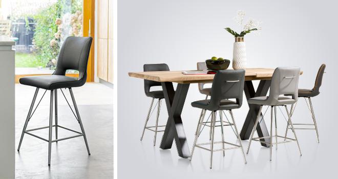 Maak van je keuken een woonkeuken met de meubels van Henders & Hazel. Bartafel en barstoelen Duncan #bartafel #keuken #woonkeuken #barstoel #hendershazel