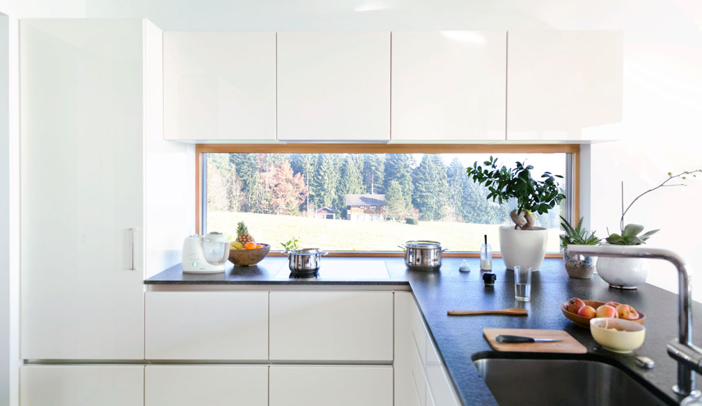 Indeling van de keuken: let vooral op de werkdriehoek en voldoende werkplek - Foto Kuhlmann keuken