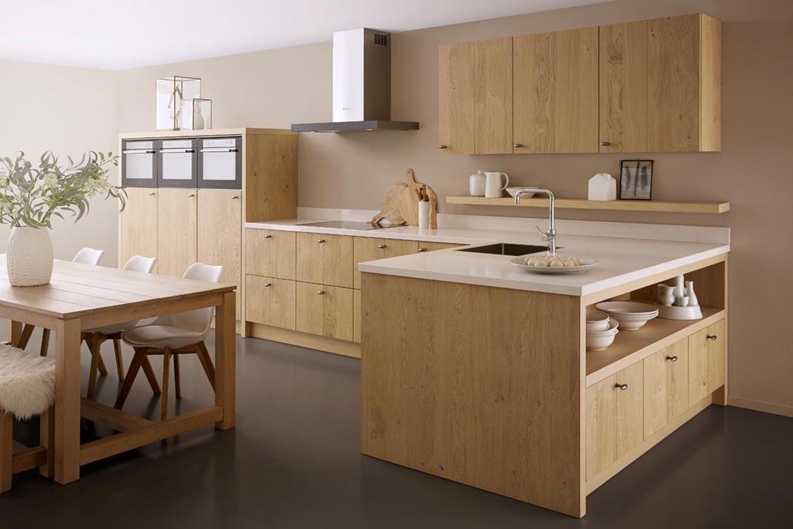 Keller keuken. Houten keuken met scandinavische uitstraling #keuken #keukeninspiratie #houtenkeuken #kellerkeuken
