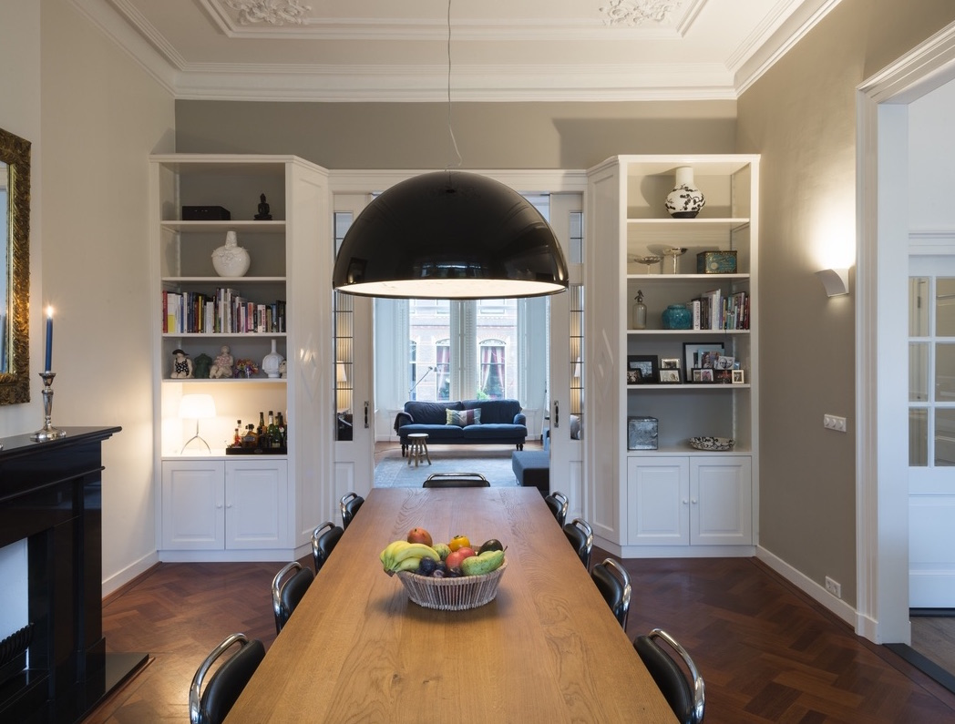 Interieur in Zutphen. Eetkamer met en suite deuren. Styling Keukenmeyt keukens op maat #keukenmeyt #interieur #eetkamer