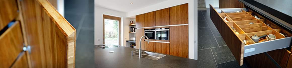Houten keuken KitchZen - milieubewuste keuken gemaakt van bamboe en met energiezuinige keukenapparatuur