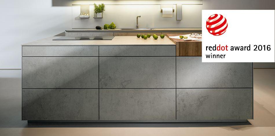 Kookeiland met betonlook - keramiek front NX 950 - next125