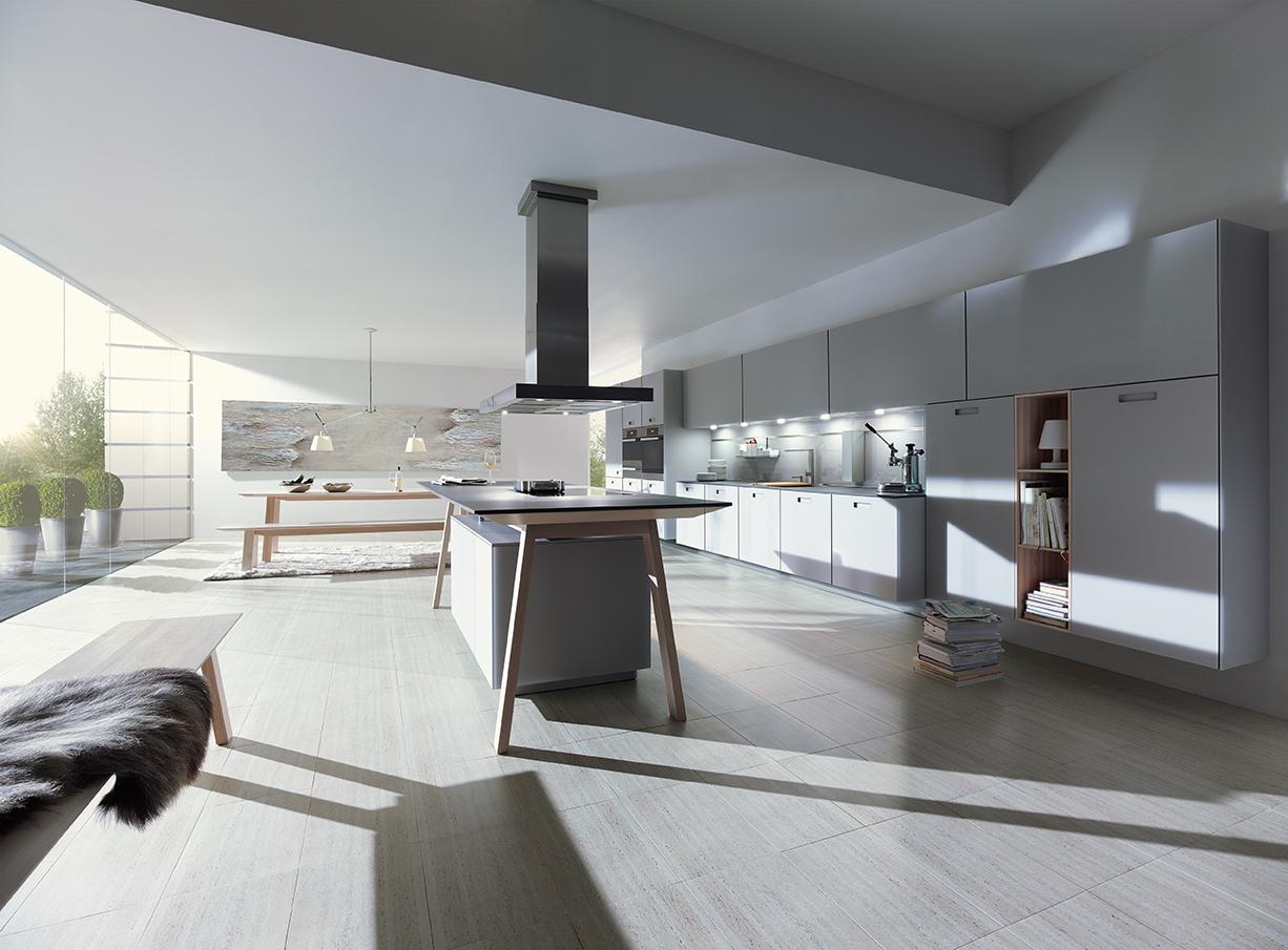 Modern design - keuken NX902 in steengrijs next125
