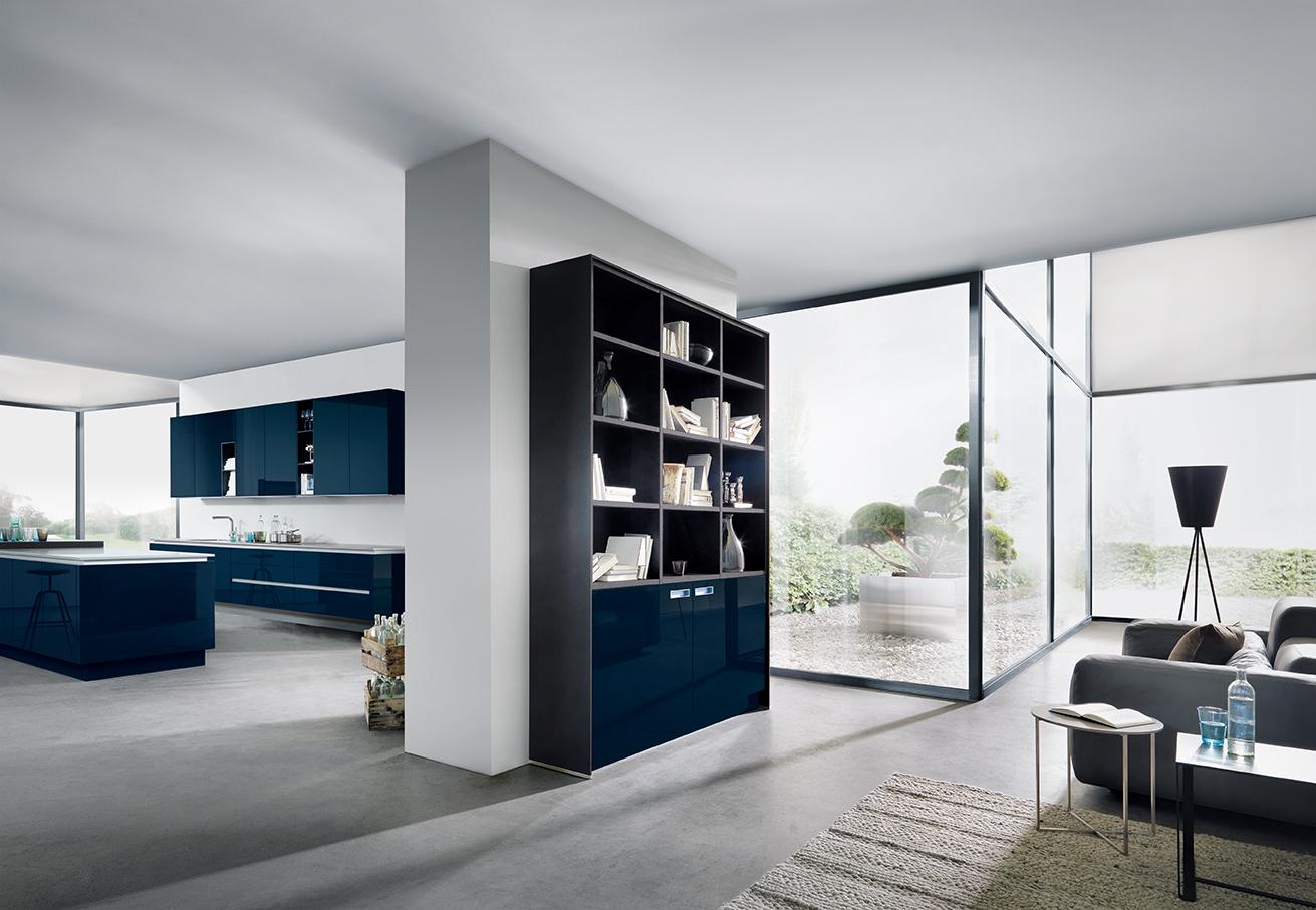 Modern design - keuken NX501 in indigoblauw next125