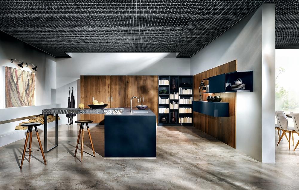 Modern design - keuken NX902 in indigoblauw next125