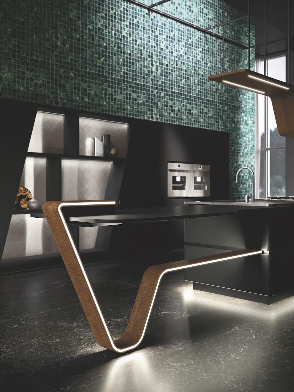 Snaidero Vision keuken nero pur. Zwarte designkeuken met kookeiland #keukendesign #designkeuken #zwartekeuken #snaidero #snaiderovision #madeinitaly #design
