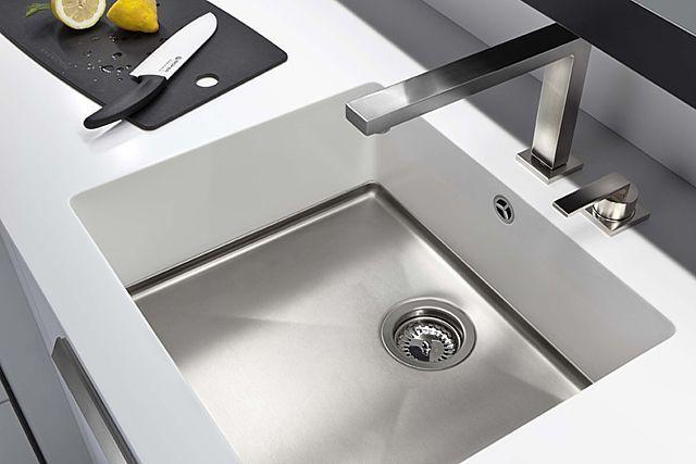 Witte Wasbak Keuken : Moderne spoelbakken functioneel krasvast uw keuken