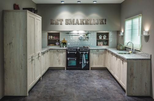 Landelijke houten keuken Selectiv van uw keukenspeciaalzaak