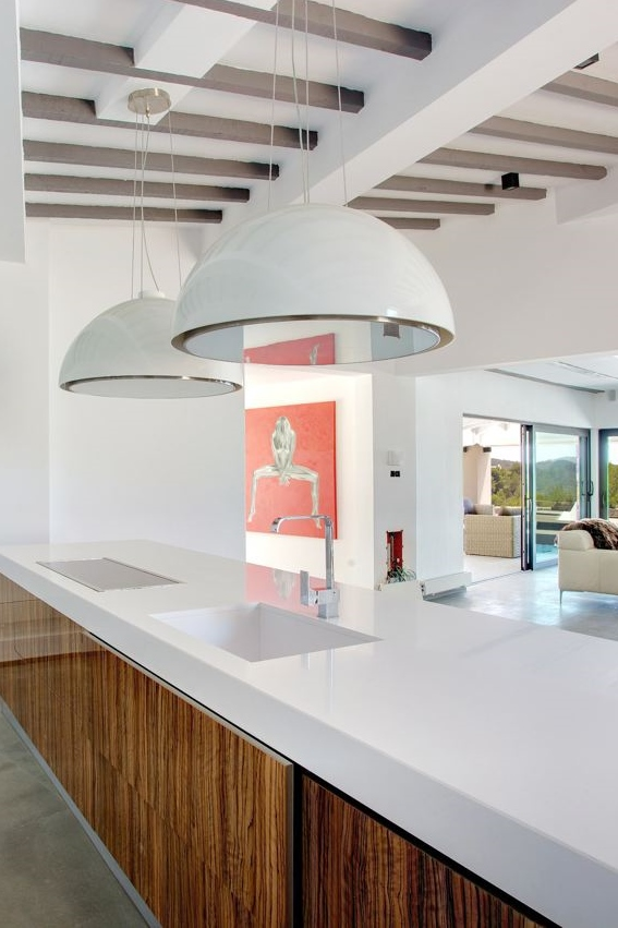 Keukenlamp Landelijk : Het afzuigsysteem met twee extra lampen zonder afzuigunit en mooi