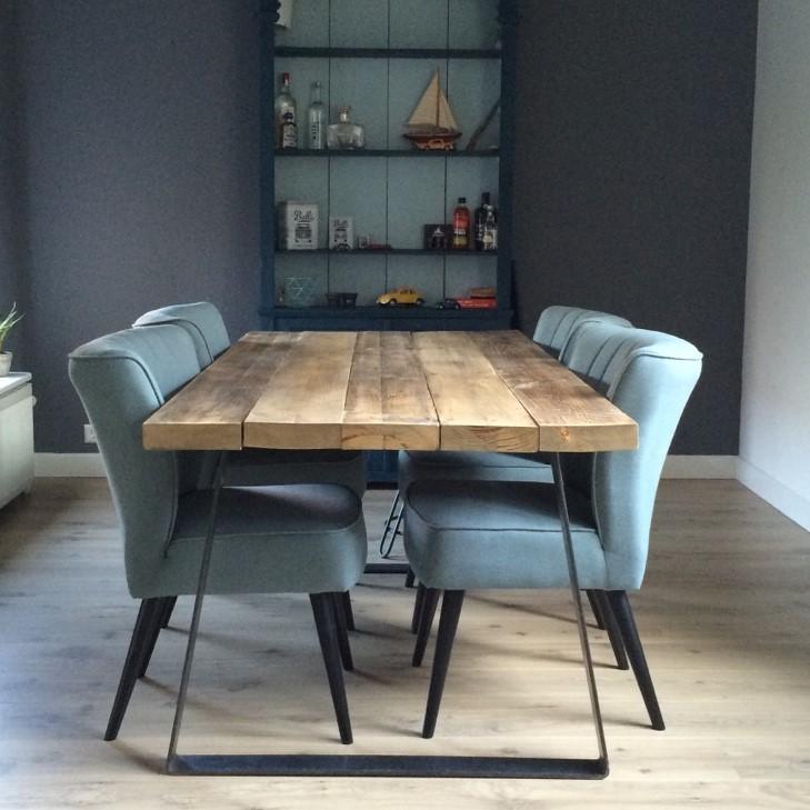 Keukentafels houten eettafels startpagina voor keuken for Stalen onderstel tafel laten maken