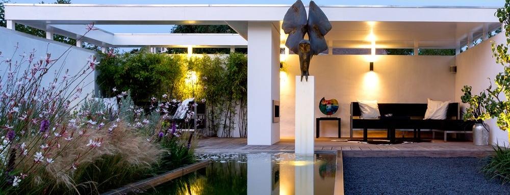 Verlichting van terras - tuinverlichting - tuinontwerp Arie Tuinarchitectuur