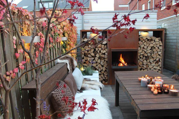 Tuinhaard van cortenstaal - ABK Outdoor- ffoto van Eigen Huis en Tuin