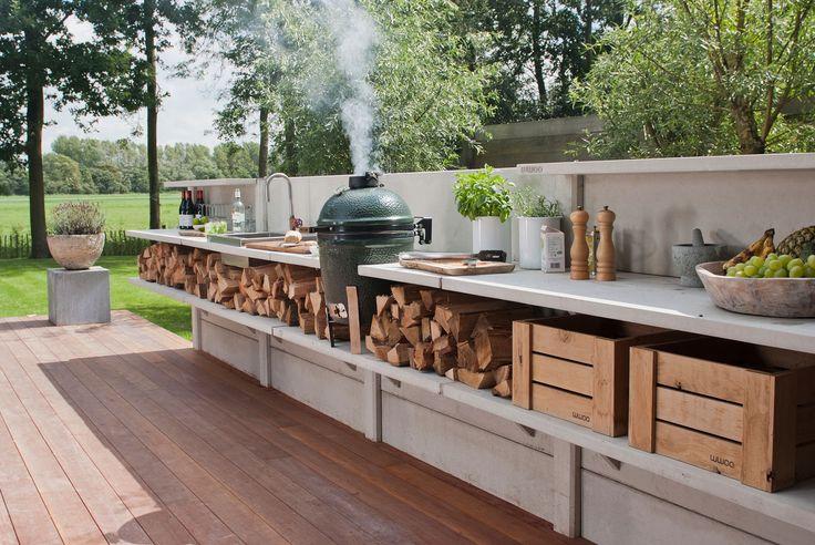 Buitenkeuken via WWOO.nl met Green Egg
