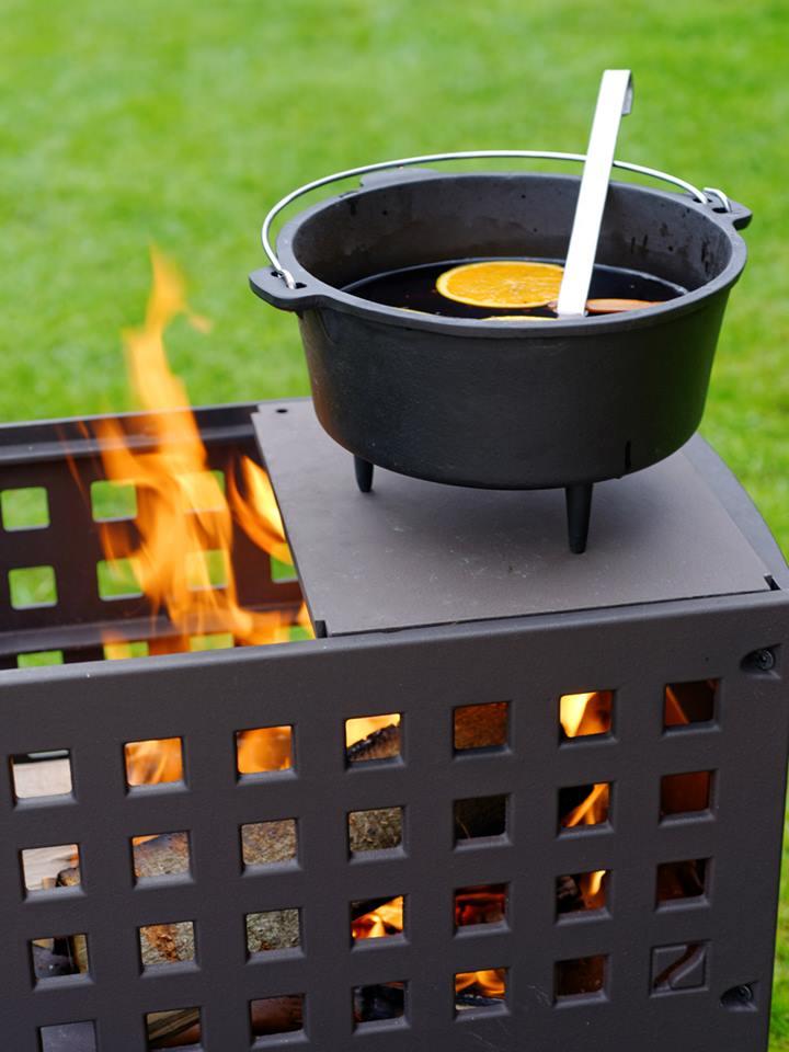 Helex outfire vuurbox buitenhaard en grill