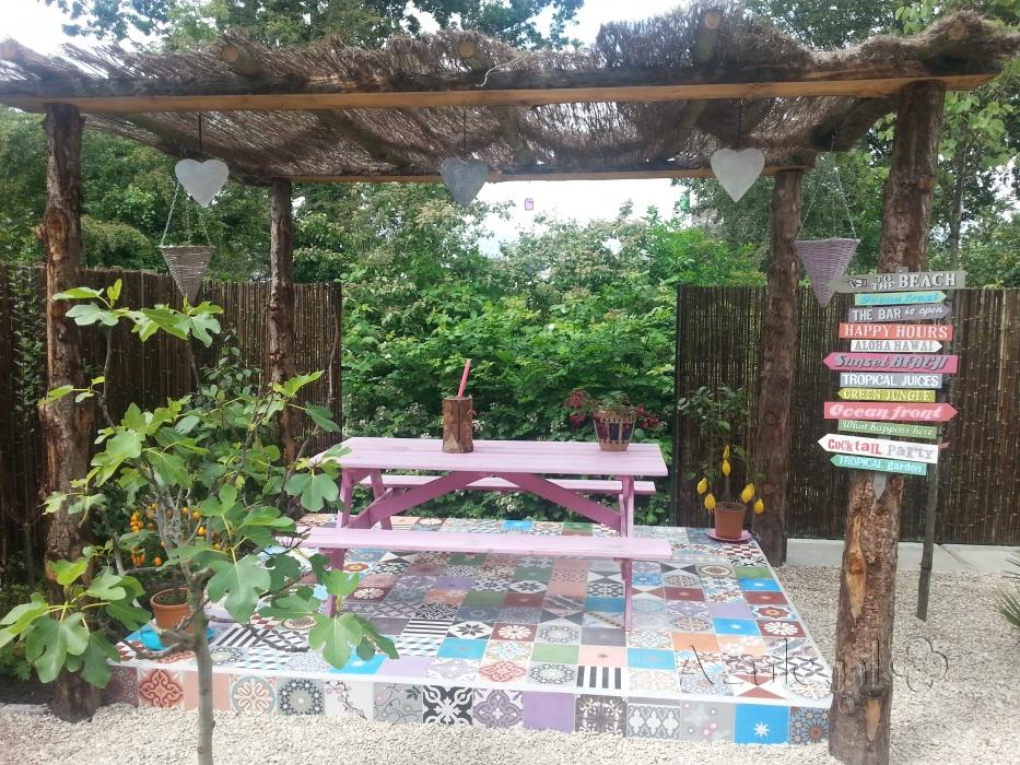 Tuinidee  kleurrijke tegels op je terras   Nieuws Startpagina voor tuin idee u00ebn   UW tuin nl