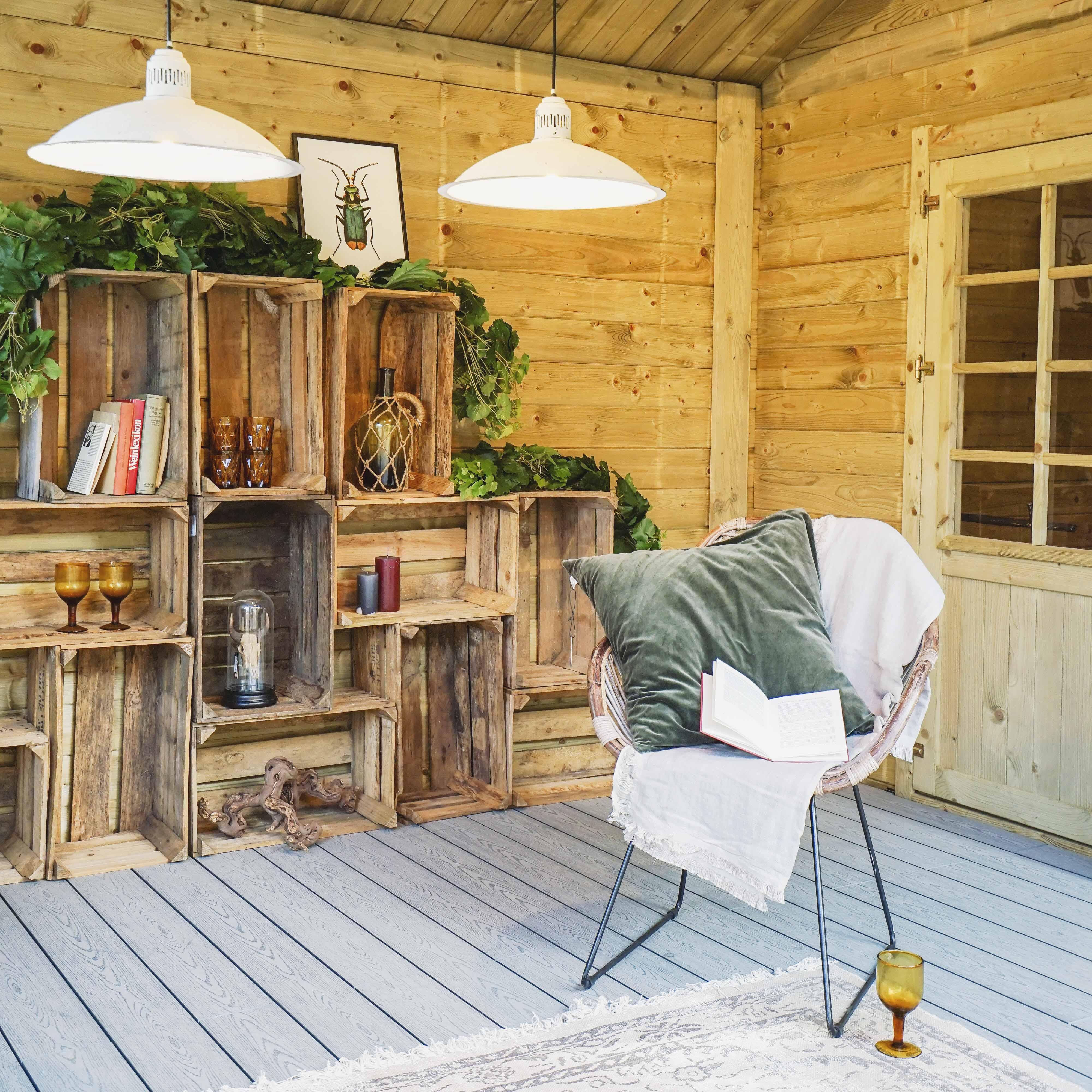 Tuinhuis of veranda inrichten. #tuinhuis #veranda #tuin #tuinidee