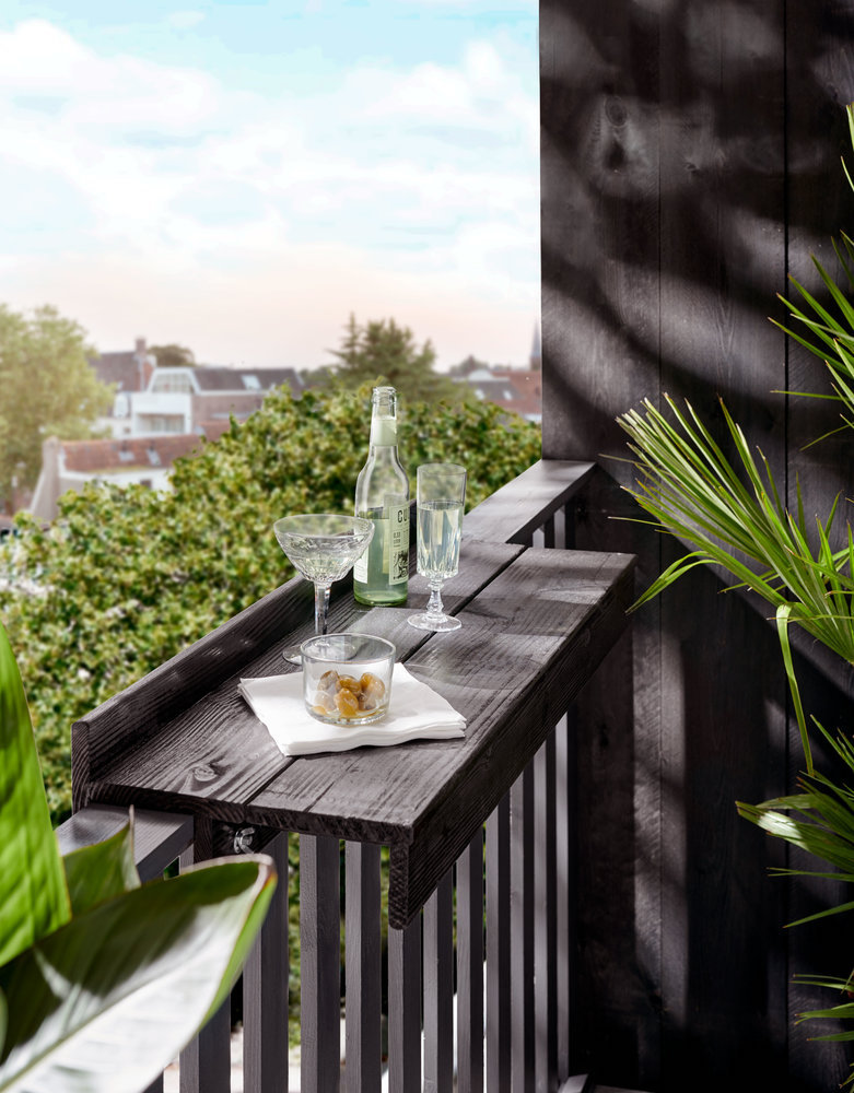 Inspiratie voor het balkon - maak je eigen rooftop bar #dyi #balkon #rooftop