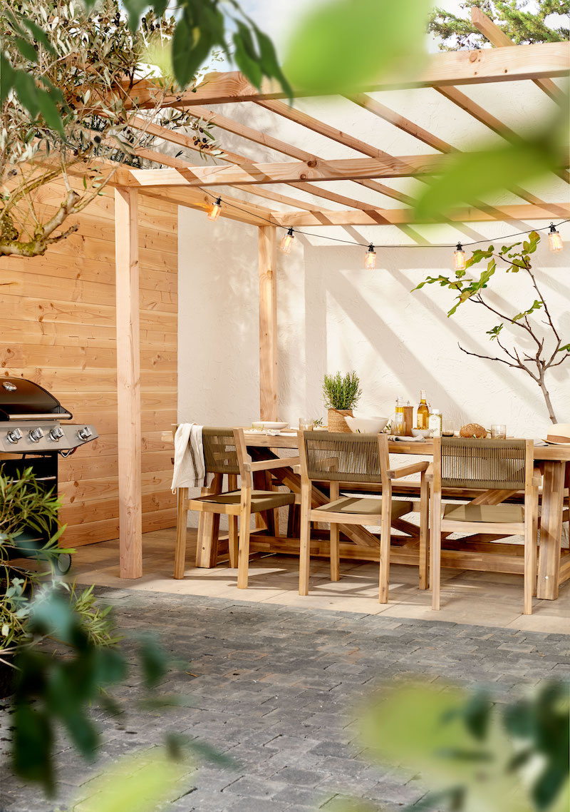 Tuininspiratie 2019. Veranda - overkapping met eettafel #tuinmeubelen #tuininspiratie #tuin #karwei #eettafel #veranda #overkapping #pergola