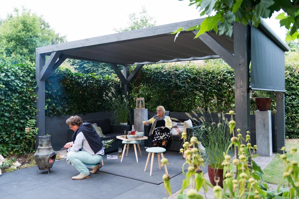 Doekzonwering en terrasoverkapping voor de tuin & terras - Solem van LuxxOut #tuin