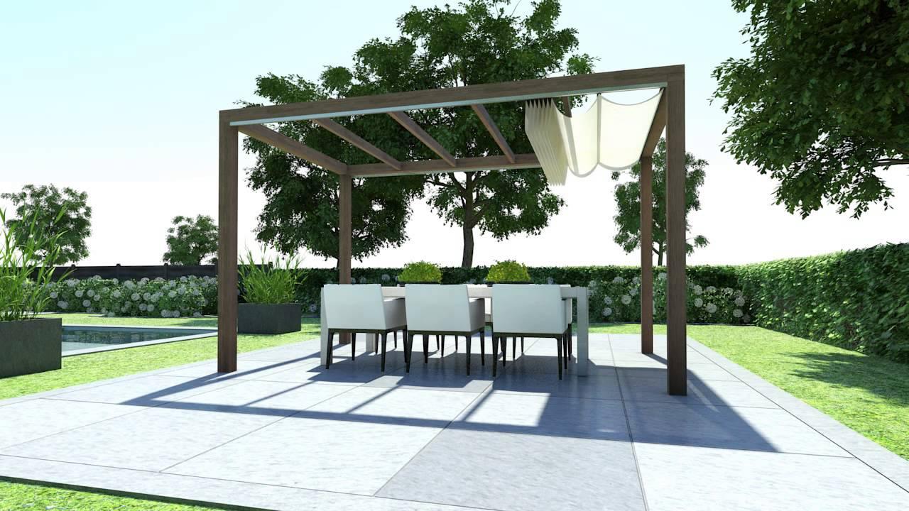 Doekzonwering en inschuifbare overkapping voor de tuin - Solem van LuxxOut #tuin