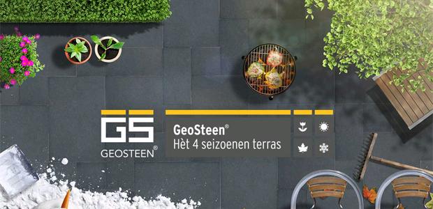 Het 4 seizoenen terras - Geosteen van MBI Beton