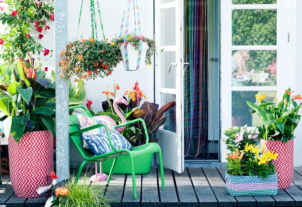 Planten op het terras en balkon zijn sfeerbepalend. Kleur is de trend! #tuin