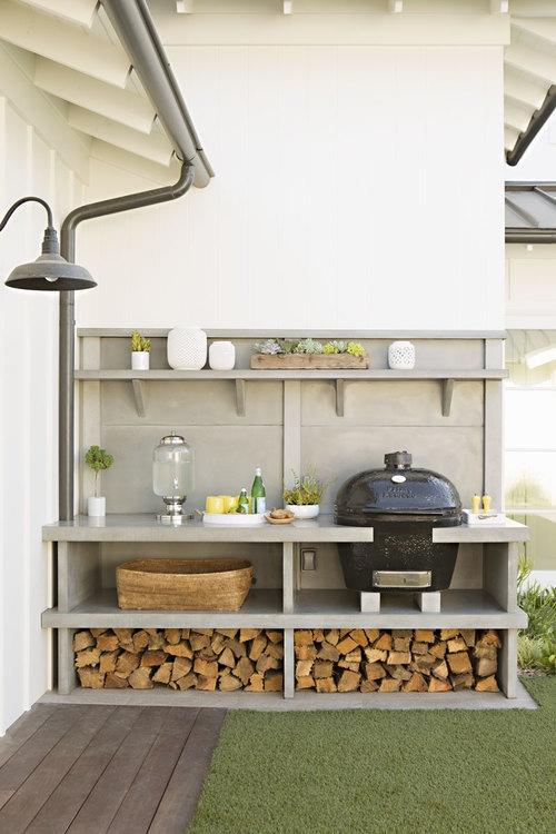 Buitenkeuken met BBQ Primo - design Eric Olsen
