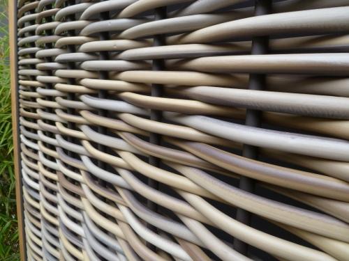 Duurzaam uinscherm fiber vlechtwerk wilgenteen look VBL