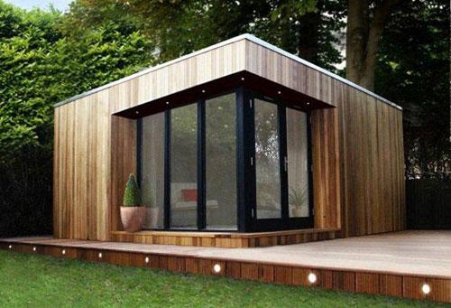 Mooi strak tuinhuis tuinhuizen tuinaanleg pinterest for Beeld tuin modern