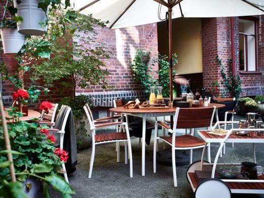 Ikea tuinmeubelen VINDALSO tuintafel tuinstoelen en handige trolley