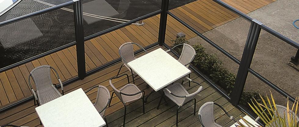 Windschermen startpagina voor tuin idee n uw - Terras beschut ...