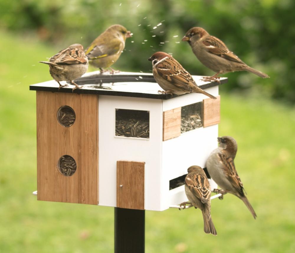 Vogelhuisje voor de tuin van het Zweedse wildlife Garden