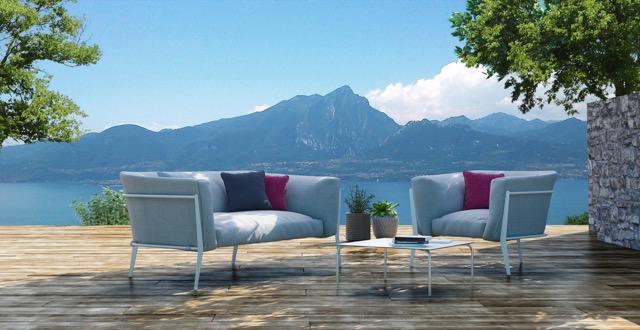Outdoor sofa - design tuinbank Clea van Coro Italia voor terras, tuin en balkon. Via Paardekoper Hulst Terrace Design bij Het Arsenaal #tuin #terras #terrasbank #tuinbank