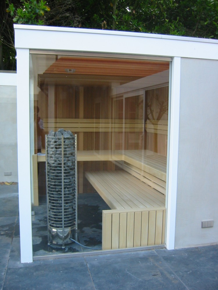 Sauna in de tuin via Cerdic