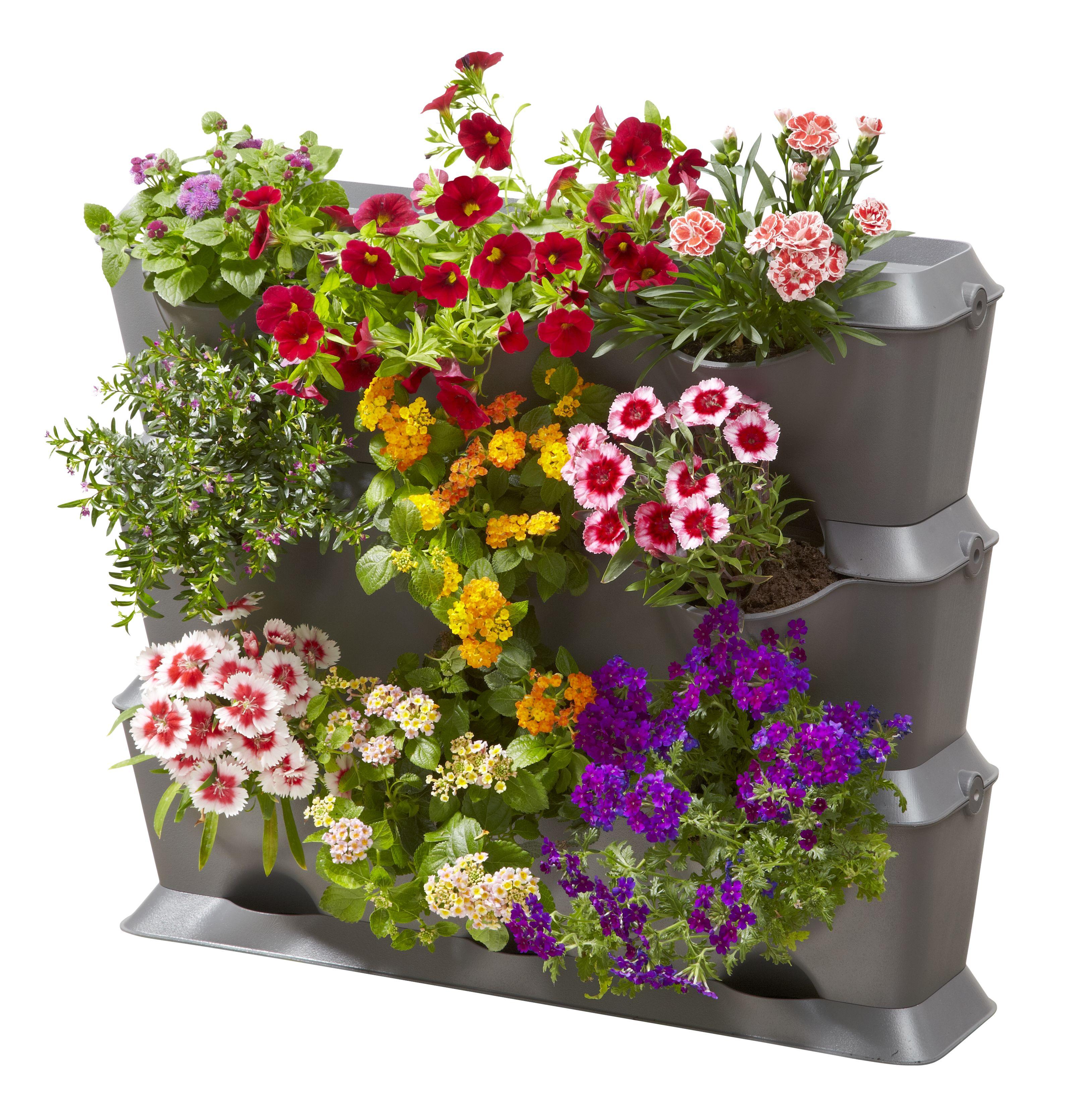 Verticaal tuinieren op je terras, balkon of dakterras met stapelbaar plantenbakken systeem #moestuin #kruidentuin #tuinieren #balkon #terras #dakterras #tuin