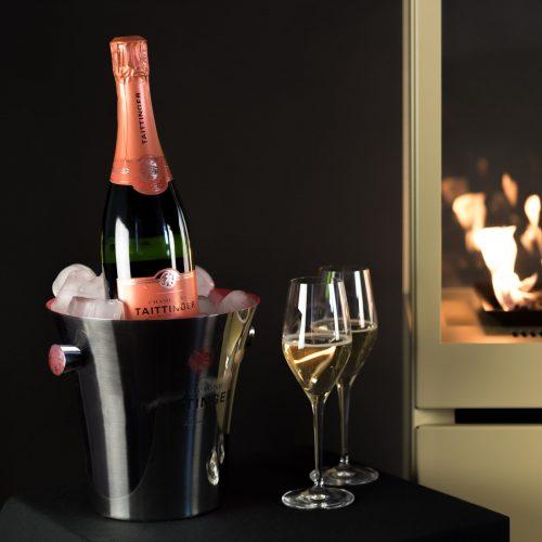 Sunwood terrashaard limited edition Marino Fiery Champagne #terrashaard #tuinhaard #buitenhaard #gashaard #sunwood #design #Tuin #limitededition #sunwood