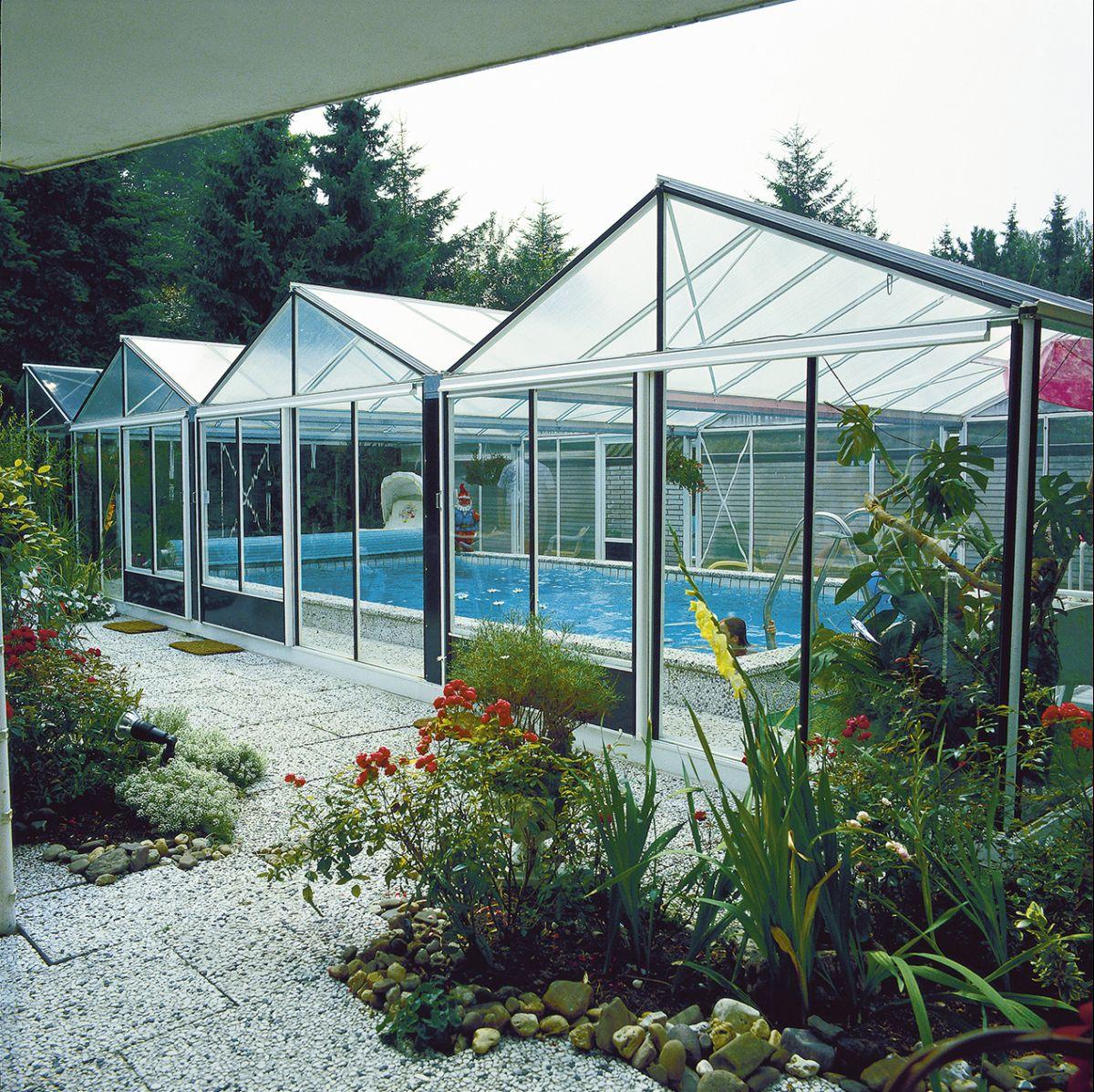 Zwembad overkapping tuinkas euro super