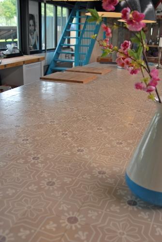 Werkblad keuken tegels Castelo portugese cement tegels