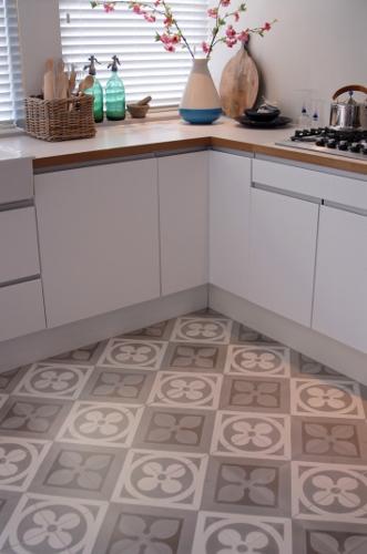 Keukenvloer met Portugese cementtegels - Castelo