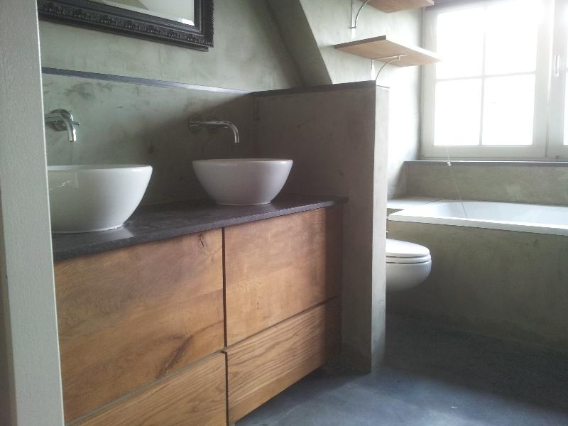 Cement muur badkamer - Image deco badkamer ...