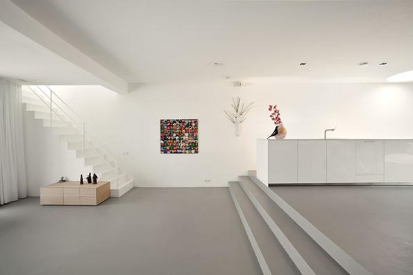 Betonvloer van microcement via Design Beton