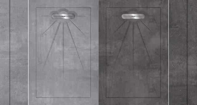 Douglas & Jones DOUCHETEGEL. Groot want maar liefst 135 x 90 centimeter, maar op maat aan te passen waar nodig. En met een compleet drain systeem. De ideale oplossing voor een volledig geïntegreerde douchevloer. Onderhoudsvriendelijk, hygiënisch en bijzonder duurzaam. #douchetegels #douche #inloopdouche #beton #douglasjones