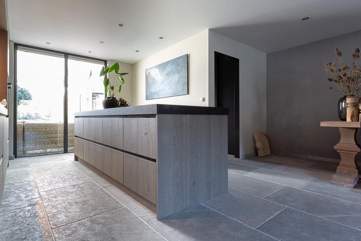 Kersbergen natuursteen vloer Dhoughi mix vloertegels #kersbergen #natuursteen #interieur