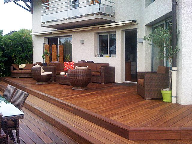 Bamboe houten terrasvloer