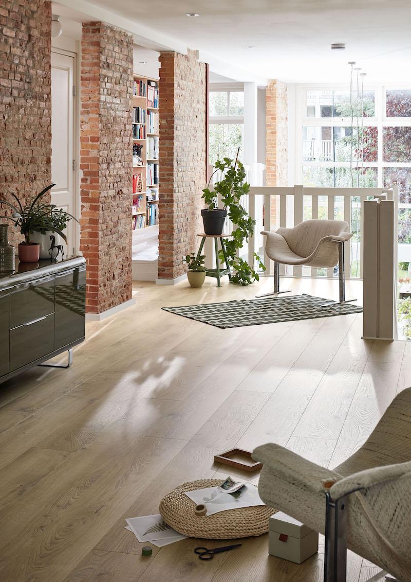 Laminaatvloer met planken van Meister #laminaat #vloer #meister #woonkamer #interieur