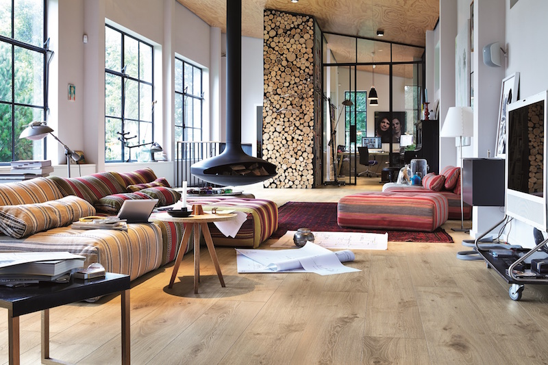 Laminaatvloer met houtlook. Meister laminaat Melango #laminaat #laminaatvloer #interieur #interieurinspiratie #meister #vloer