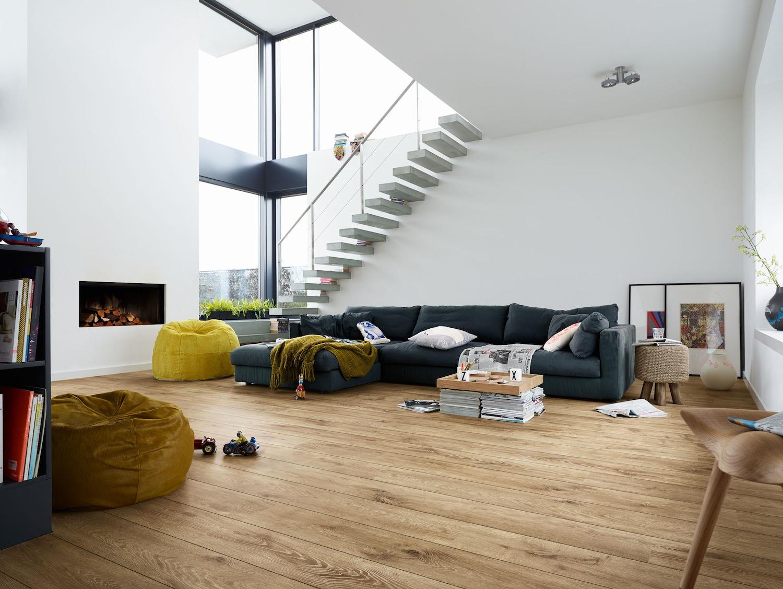 Laminaatvloer met houtlook via Meister