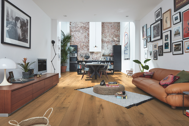 Lindura houten vloer Houten HD400 Eik rustiek van Meister #interieur #interieurinspiratie #houtenvloer #hout #vloer #meister #lindura