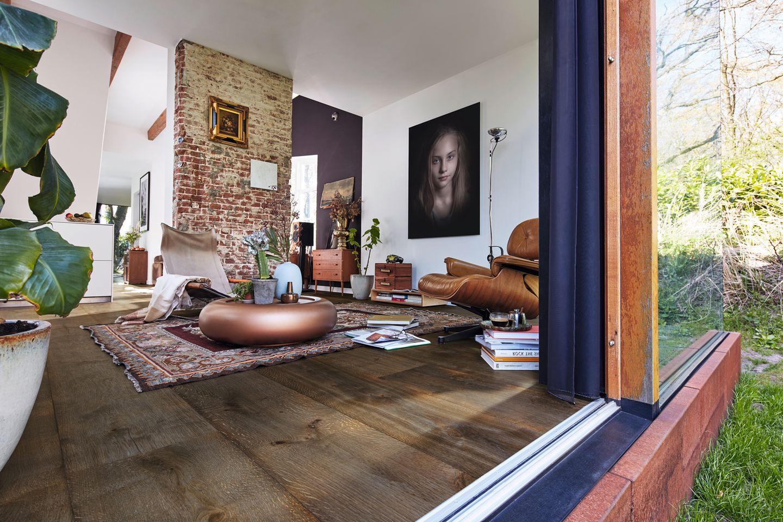 Houten vloer geolied rustiek olijfgrijs vintage. Lindura HD 300 van Meister #vloer #houtenvloer #vloeren #interieur #landelijk #landelijkwonen #interieurinspiratie
